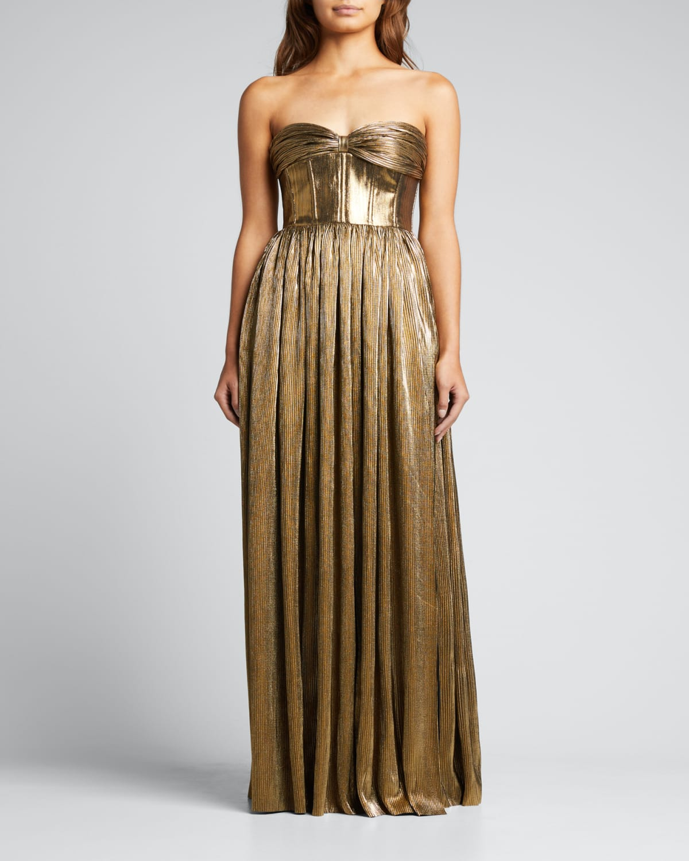 Florence Strapless Metallic Gown
