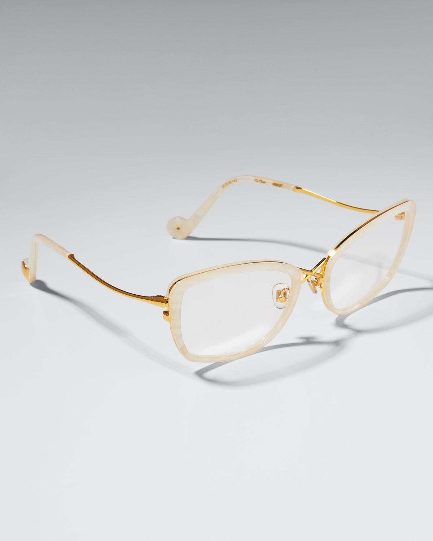 La Croix Acetate Optical Cat-Eye Glasses
