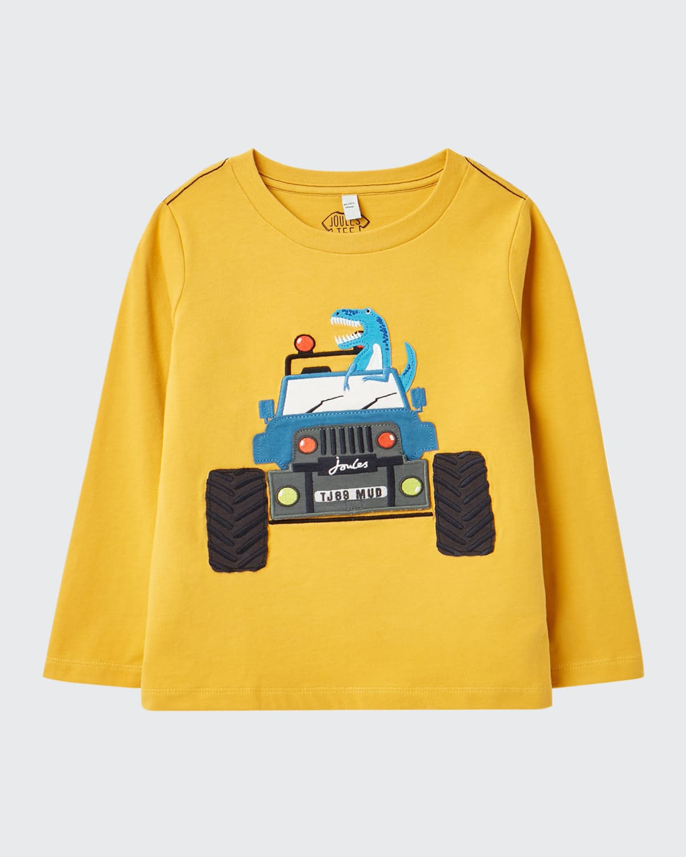 Boy's Chomp Dinosaur Graphic Sweater