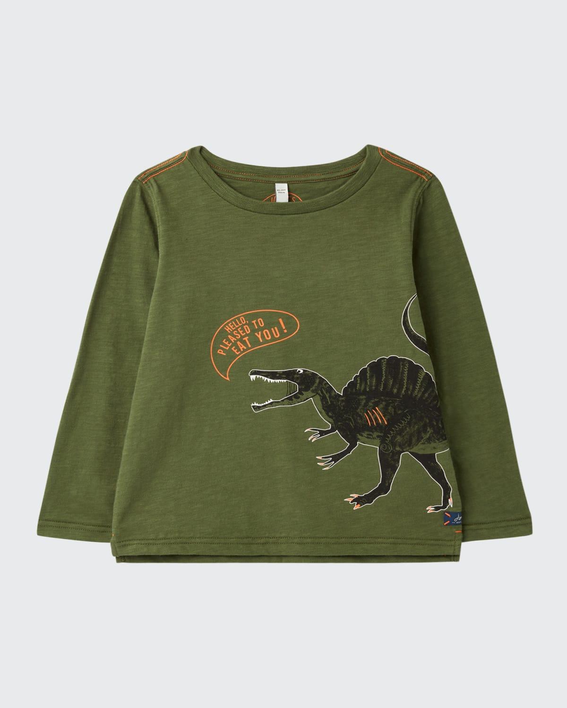 Boy's Raymond Dinosaur Glow-in-the-Dark Sweater