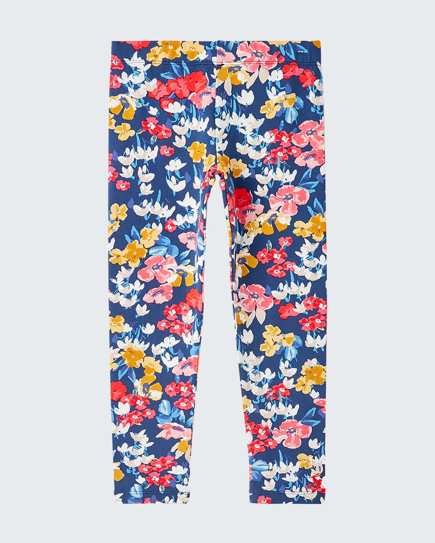 Girl's Deedee Floral-Print Leggings
