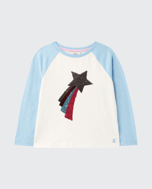 Girl's Lorna Rainbow Sequined Baseball T-Shirt