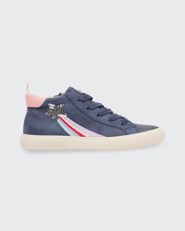 Girl's JNR Coast Star Rainbow Sneakers