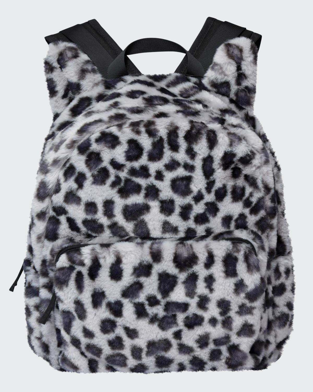 Kid's Leopard Faux-Fur Backpack