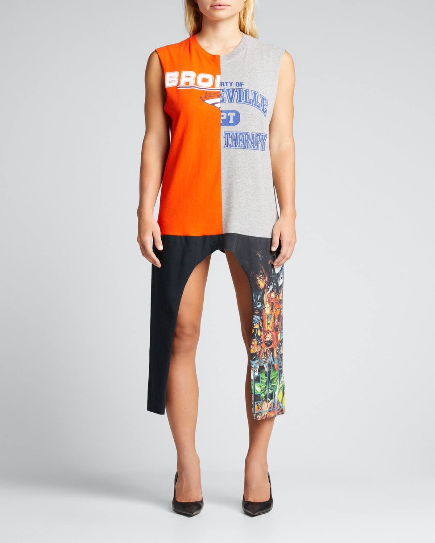 T-Shirt Patchwork Jersey Midi Dress