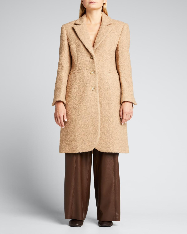 Leighton Longline Wool-Blend Coat