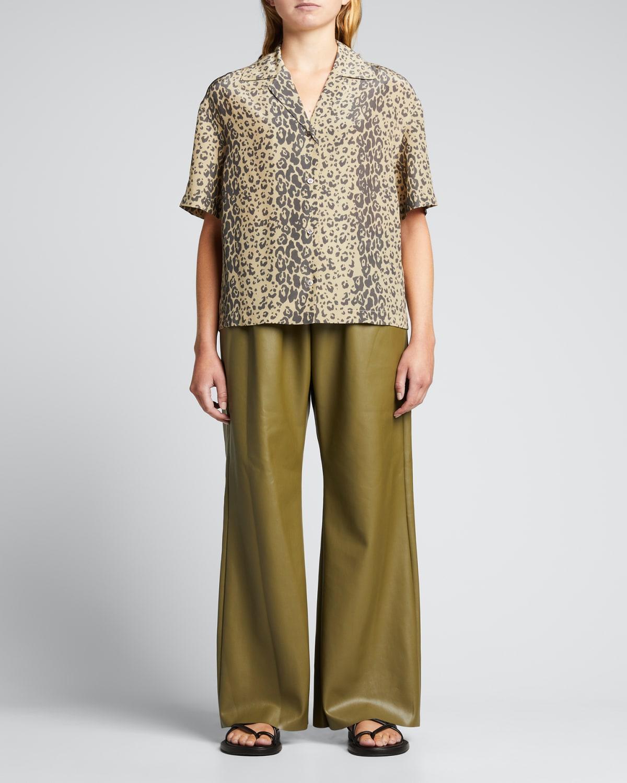 Rory Animal-Print Silk Resort Shirt