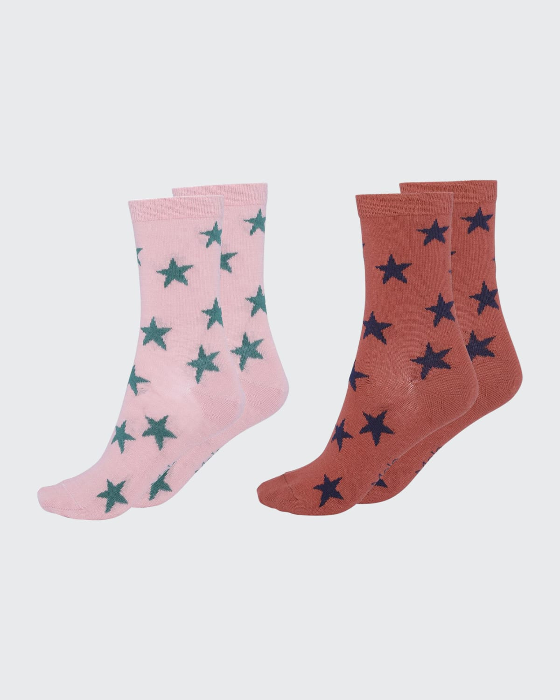 Girl's Nesi 2-Pack Star Socks