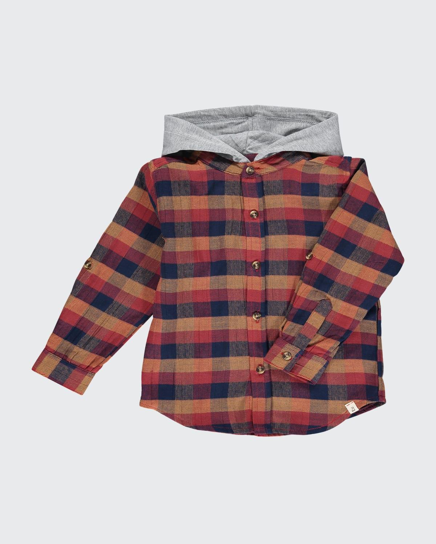 Boys' Dyer Hooded Woven Shirt