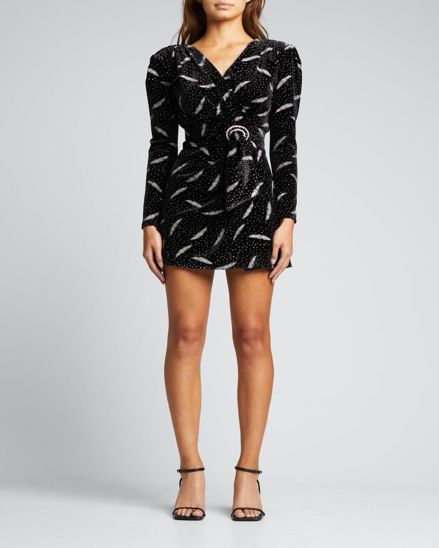 Carina Short Metallic Velvet Dress