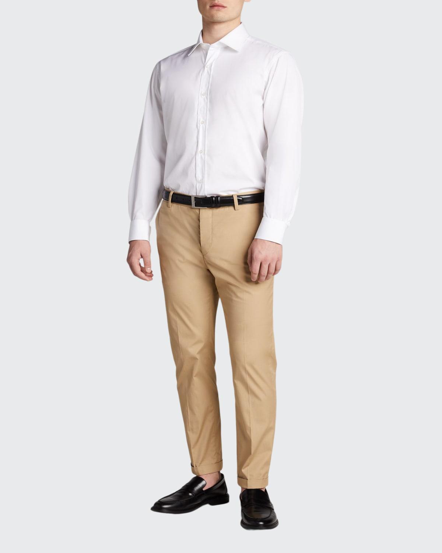 Men's Solid Poplin Dress Shirt