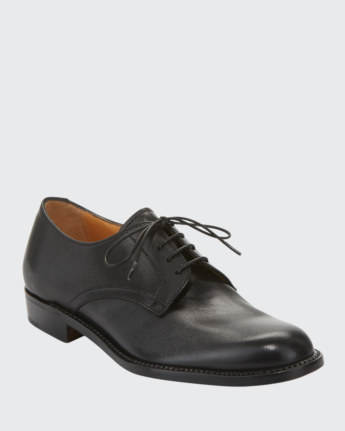 Calf Leather Lace-Up Oxford