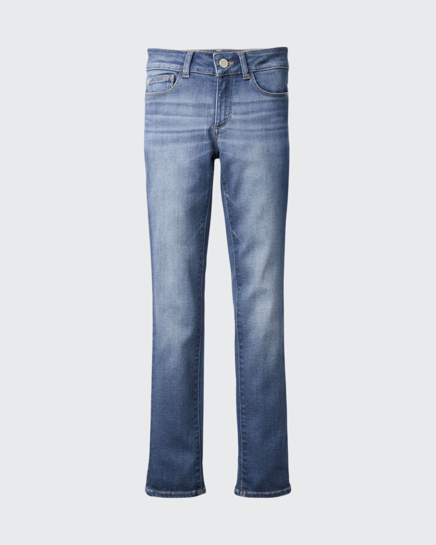 Girls' Chloe Skinny Mid-Rise Faded Jeans