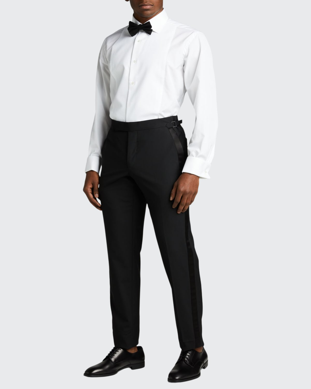Men's Pique Bib-Front Tuxedo Shirt