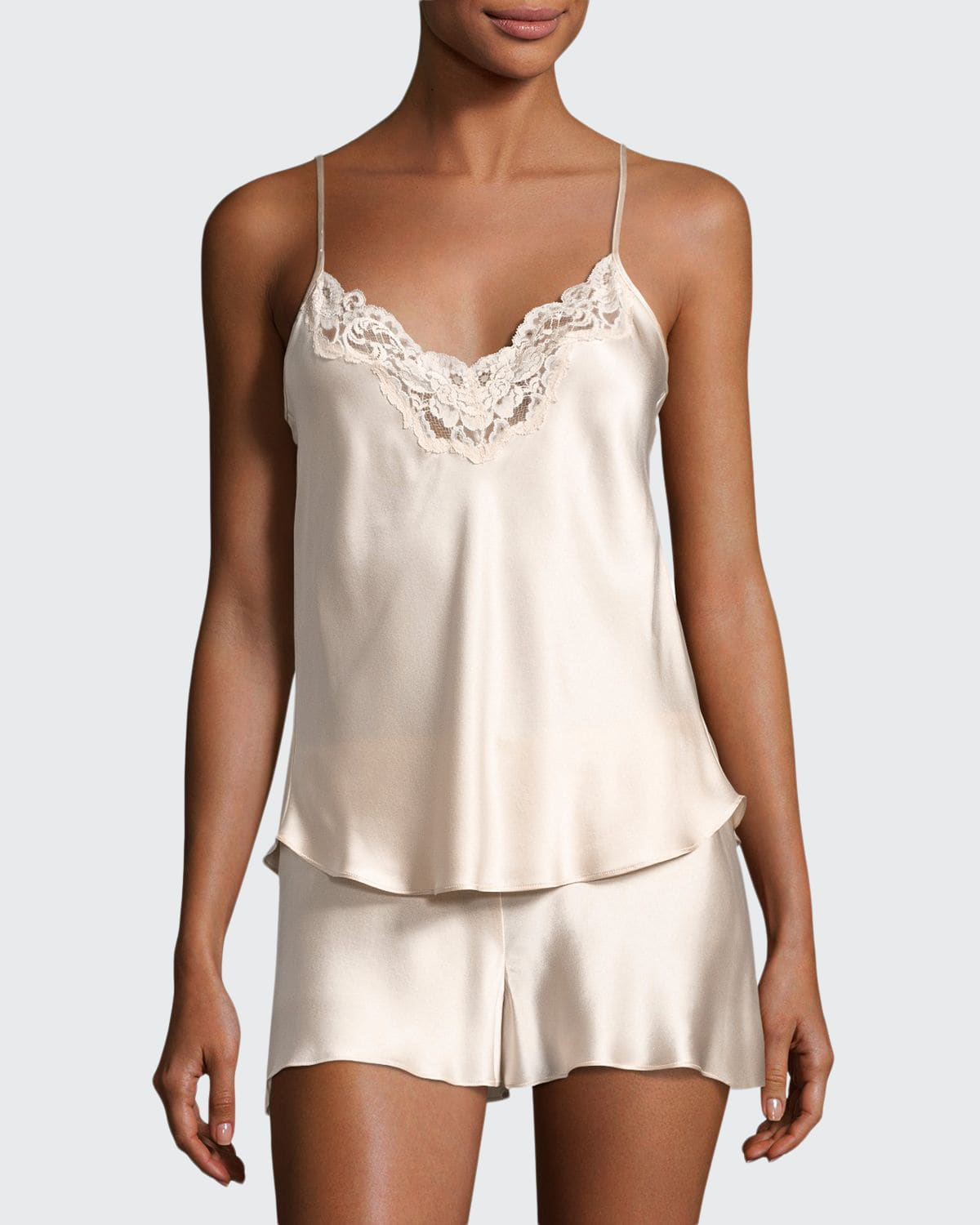 Bijoux Silk Satin Cami & Short Pajamas Set