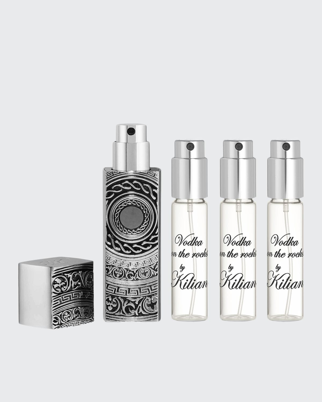 Vodka on the Rocks Travel Spray with its 4 x .25 oz refills