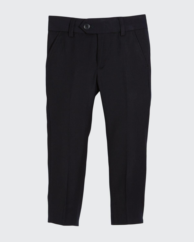 Straight-Leg Suit Pants