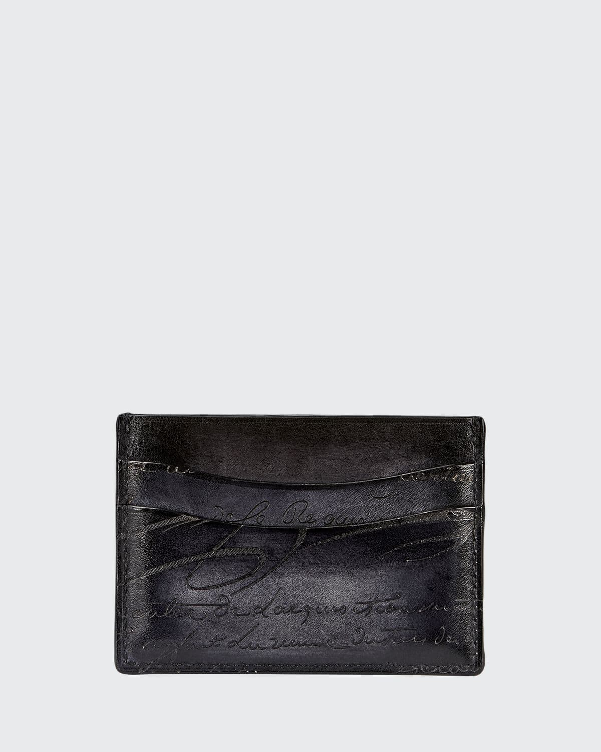 Bambou Scritto Leather Card Case