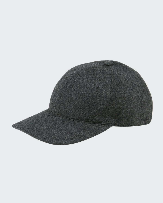 Men's Solid Cashmere Baseball Cap