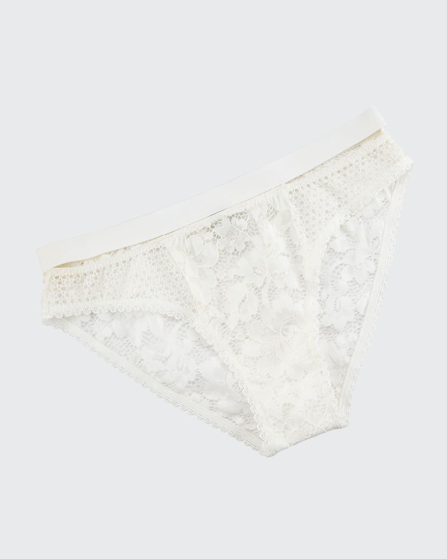 Petunia Floral-Lace Sporty Bikini Briefs