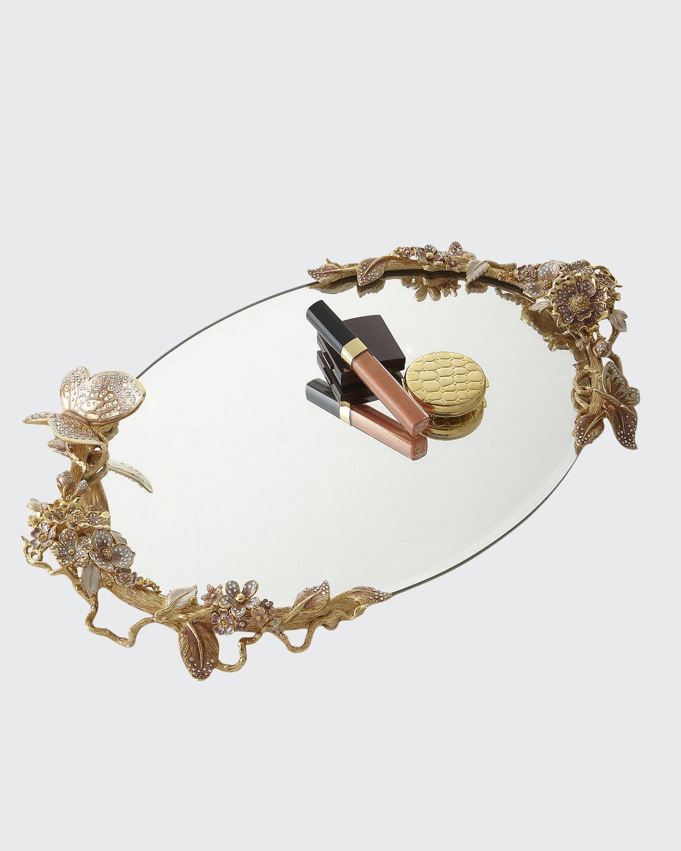 Boudoir Oval Mirror Tray