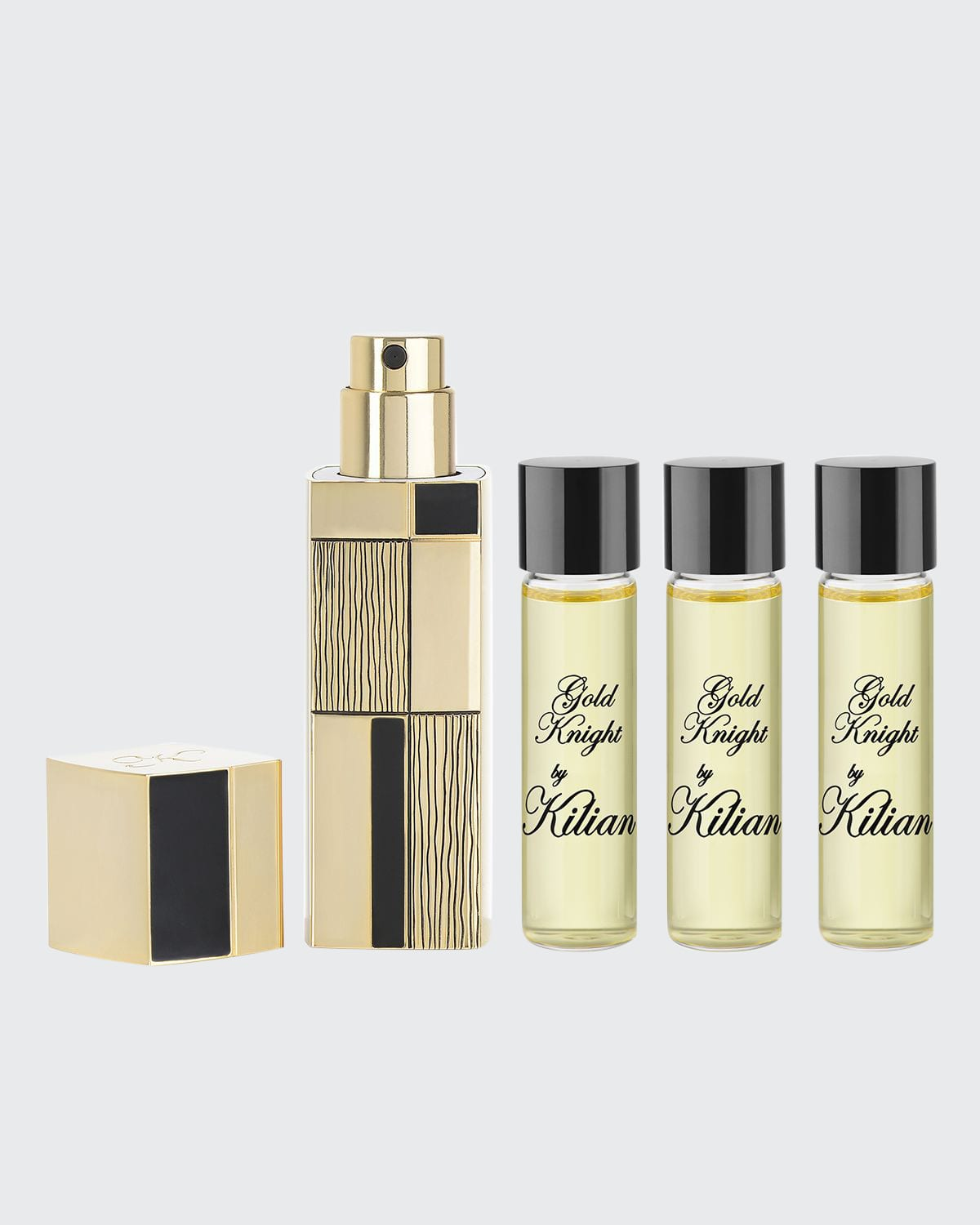 Gold Knight Travel Spray with its 4 x .25 oz refills