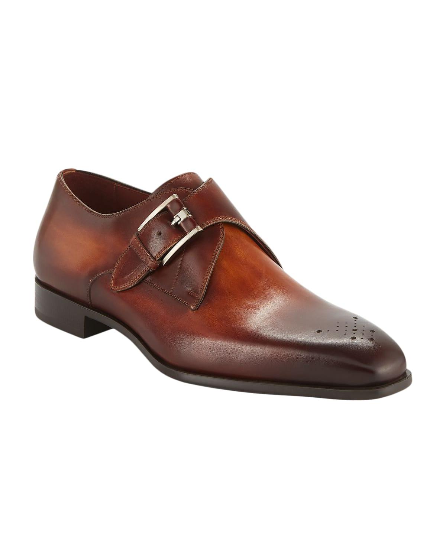 Men's Single-Monk Leather Shoes