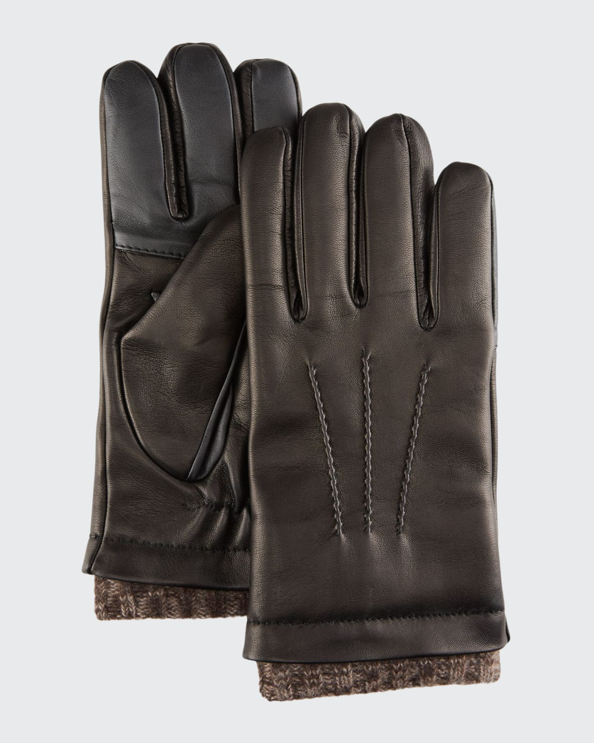 Men's Leather Gloves w/ Knit Lining