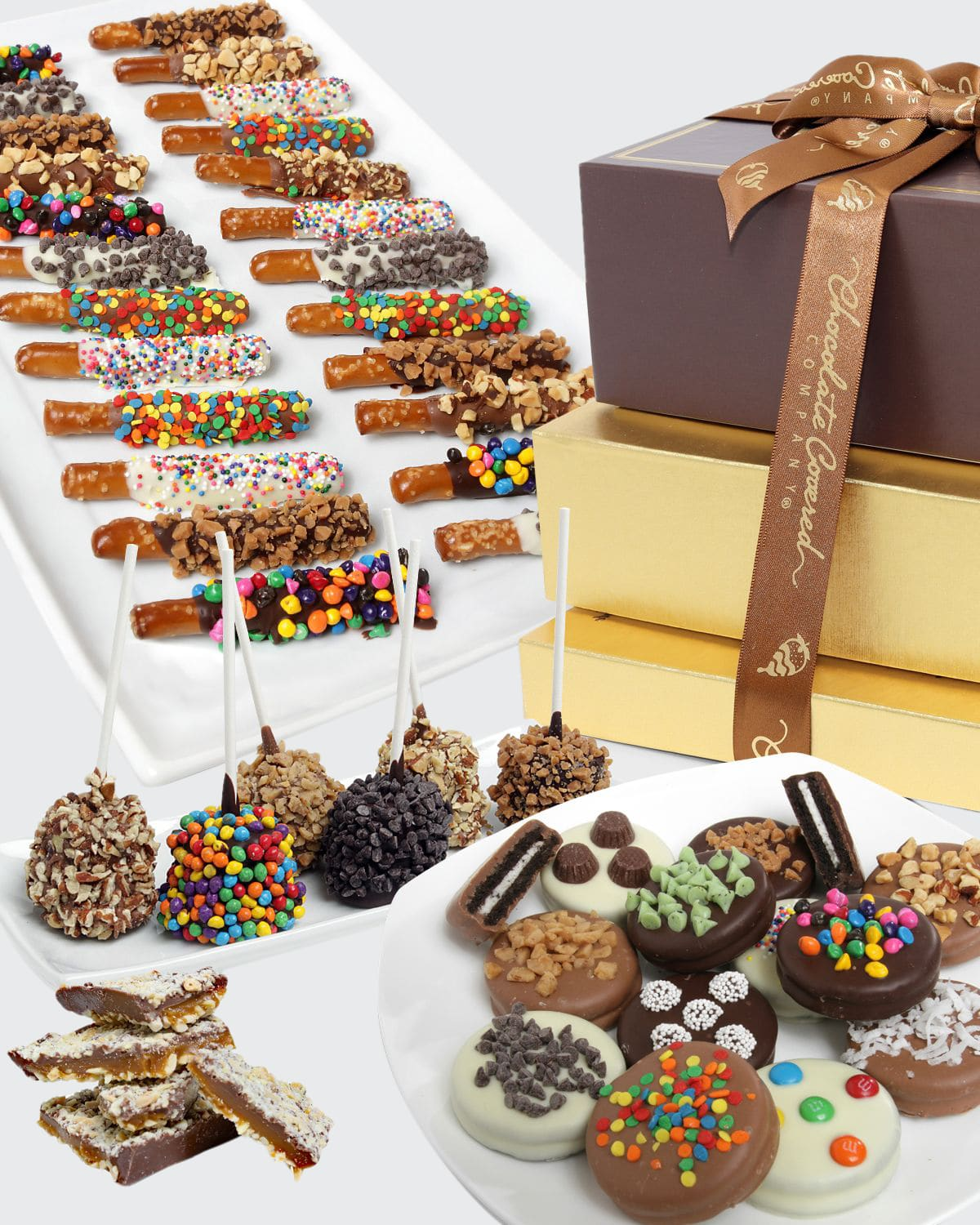 Deluxe Chocolate Covered Gift Tower
