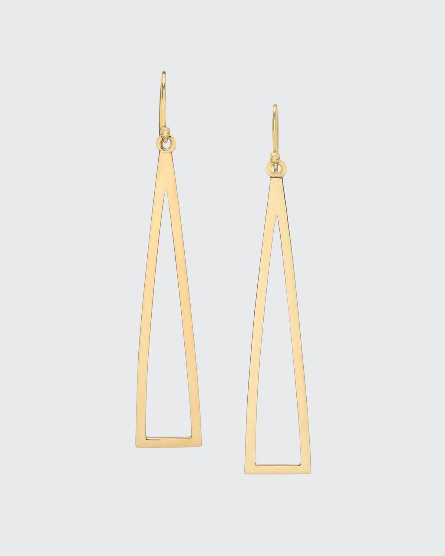 14k Triangle-Frame Dangle Earrings