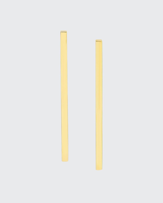 14k Yellow Gold Long Stick Earrings