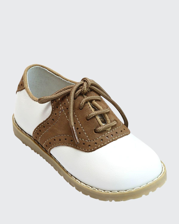 Luke Two-Tone Leather Saddle Shoes