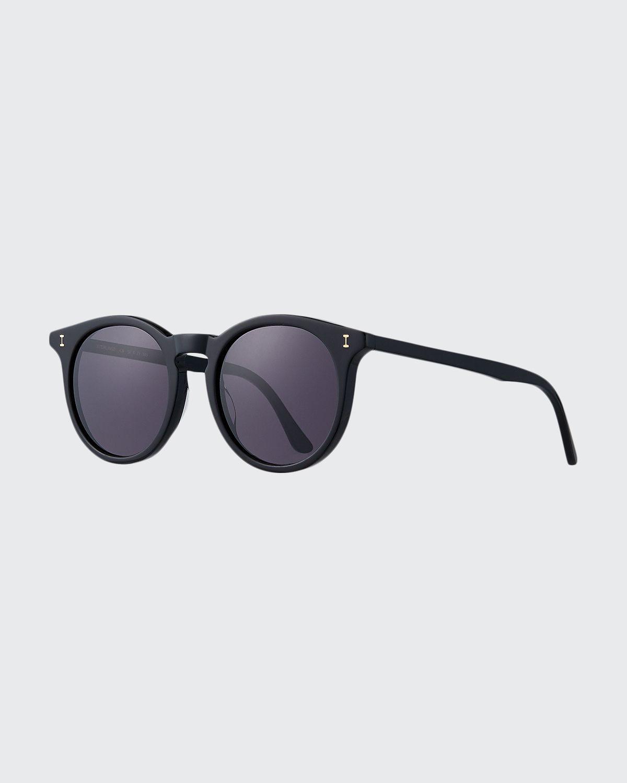 Sterling II Round Transparent Acetate Sunglasses