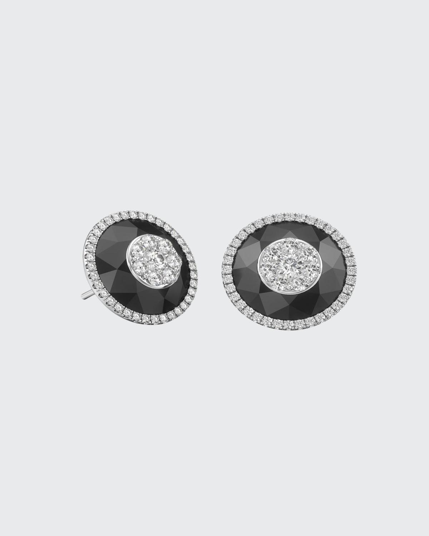 18k White Gold 13mm Halo Stud Earrings w/ Diamonds