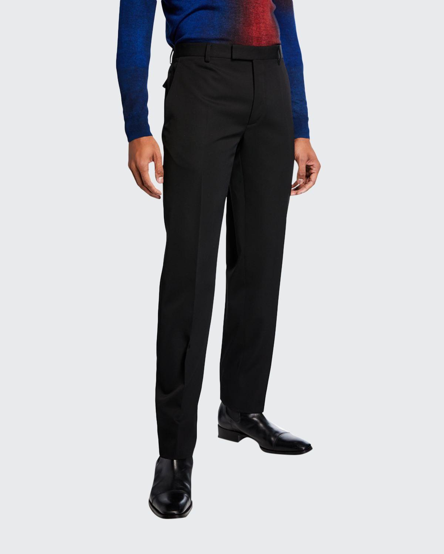 Men's Virgin Wool Tapered Pants