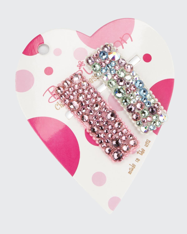 Multicolored Pastel & Tonal Swarovski Crystal Hair Clip Set