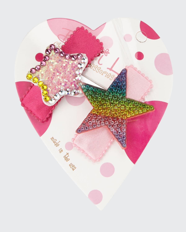 Pastel & Rainbow Stars Hair Clip Set