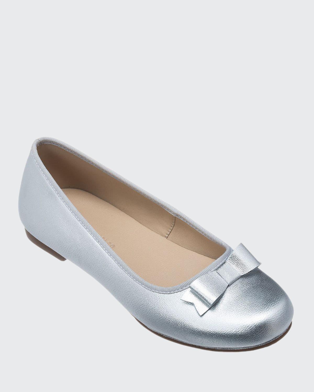 Camille Metallic Leather Flat