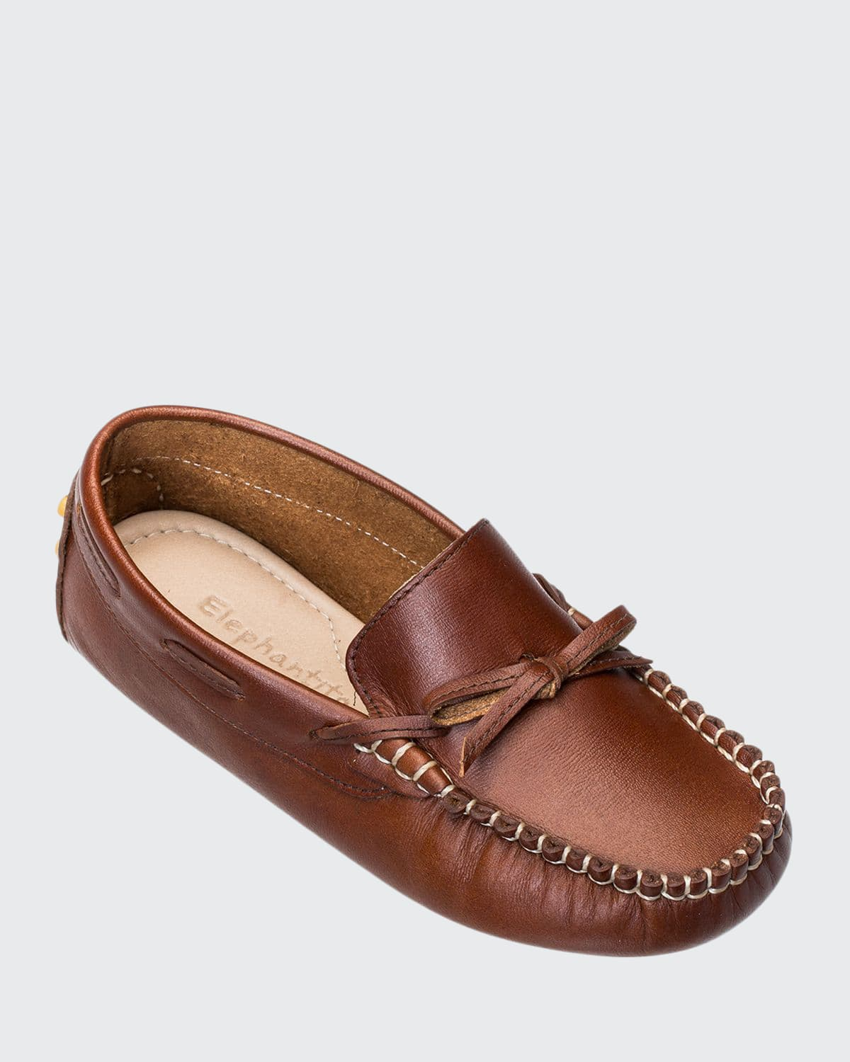Boys' Leather Driver Loafers