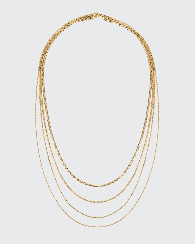18k Gold Multi-Chain Necklace