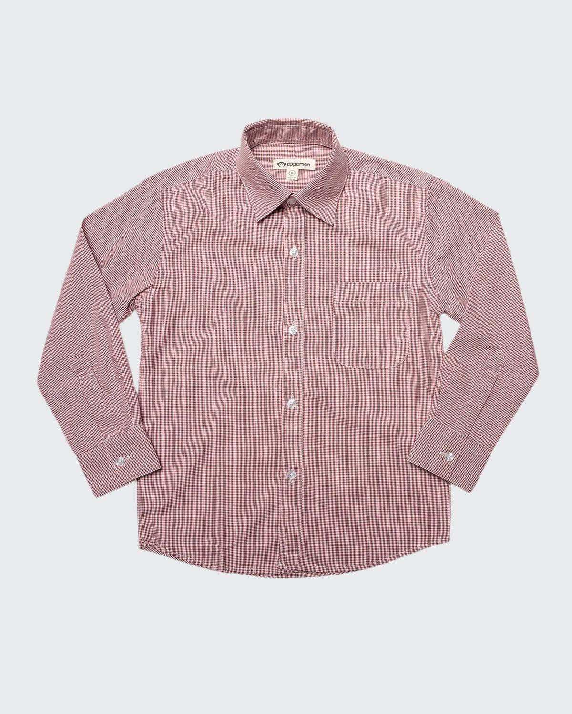 Boy's Standard Micro Grid Dress Shirt