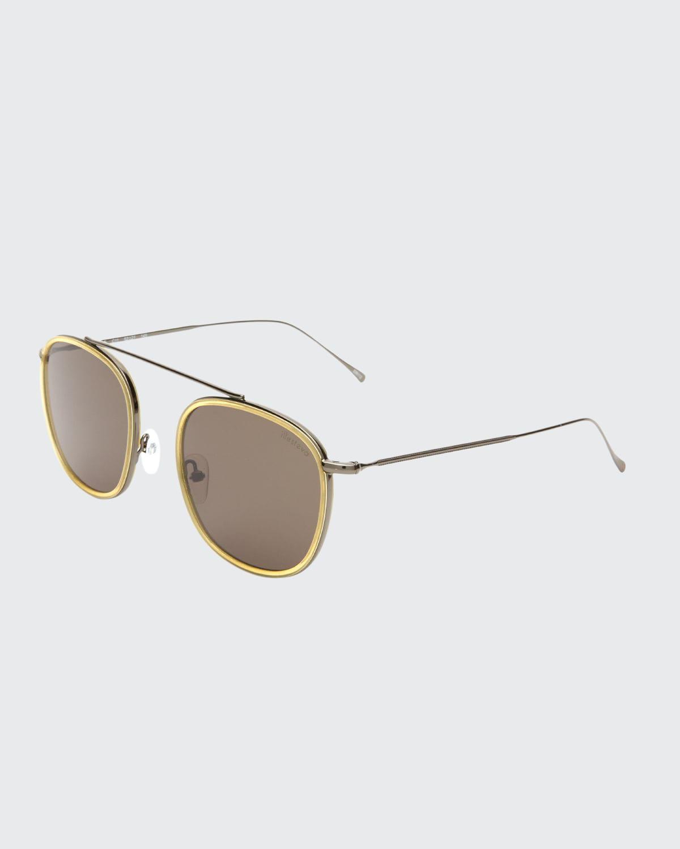 Aviator Metal & Acetate Sunglasses