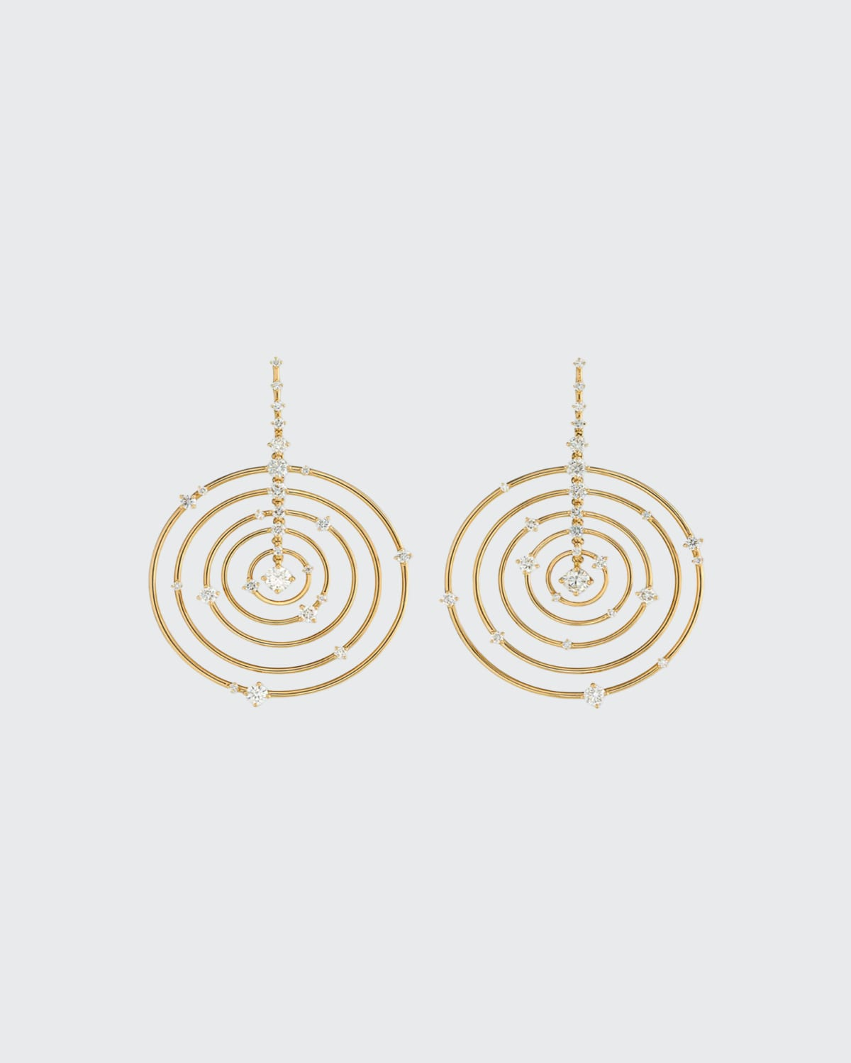 Troupe Earrings 18K Gold And Diamonds