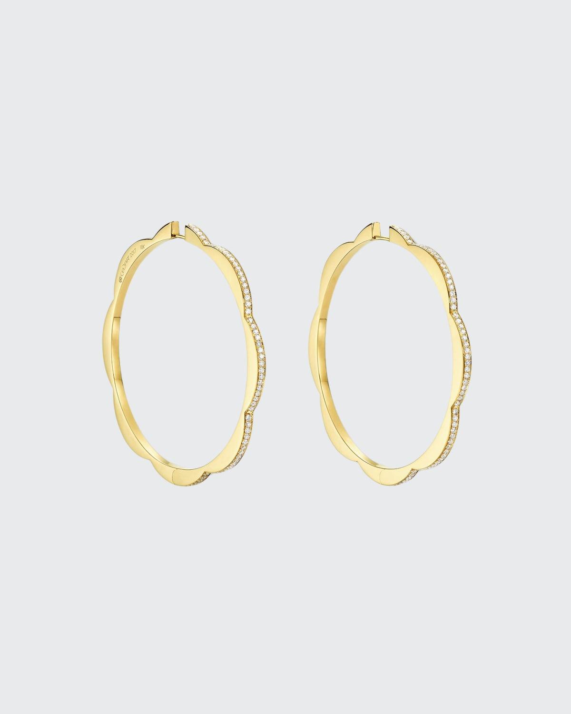 18k Yellow Gold Bloom Jumbo Triplet Hoop Earrings