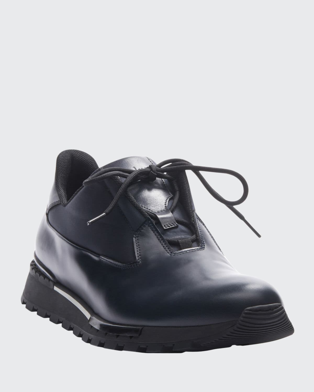 Men's Glazed Leather Sneakers
