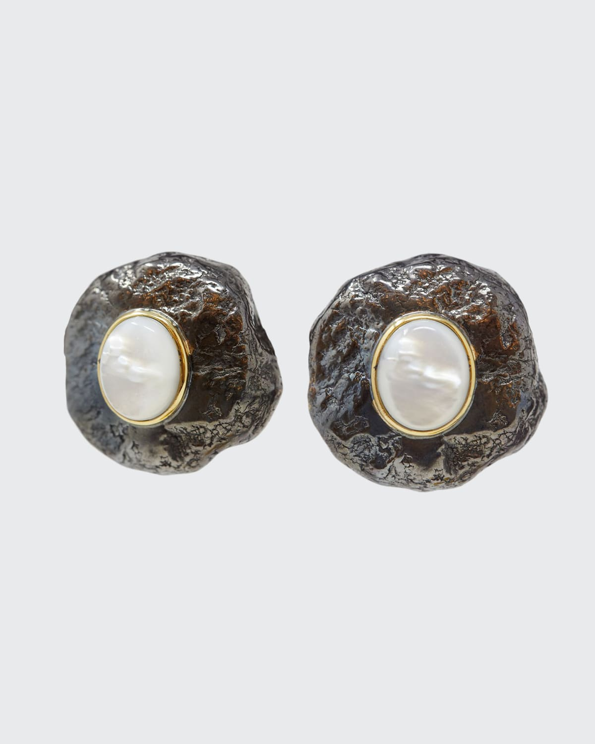 Capris Mother-of-Pearl Button Earrings