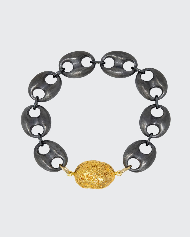 Marine Silver Chain Gold Capris Stone Black Silver Yellow Gold