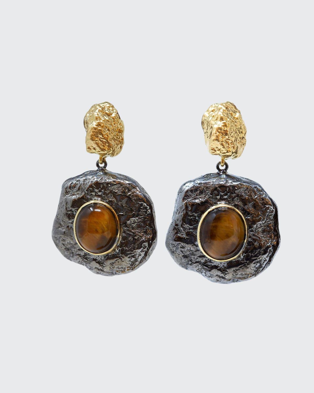 Capris Stone Bicolor Earrings