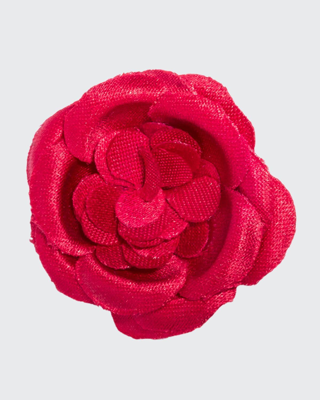 Men's Small Poplin Lapel Flower