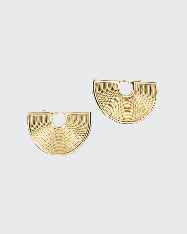 18k Gold Deity Earrings
